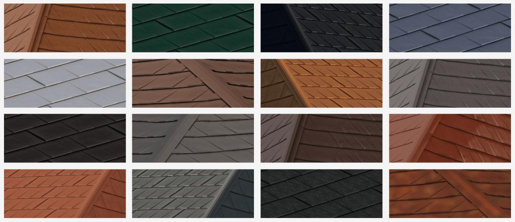 Wakefield Bridge Steel Shingle Colours